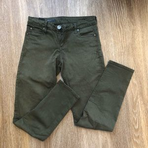 Kut from the Kloth Diana Skinny Army Green Denim